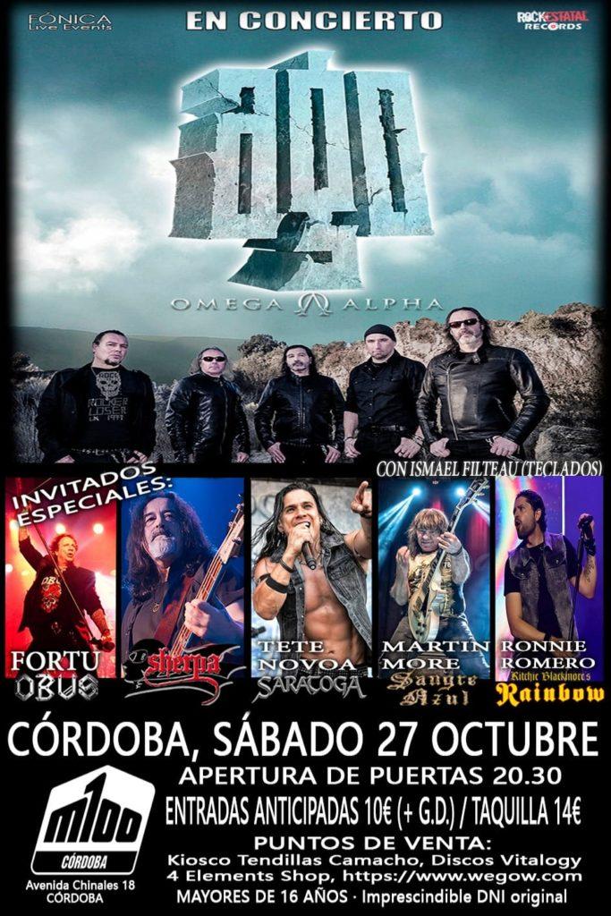 AGO en concierto en Córdoba 27 Octubre con invitados de lujo!!!